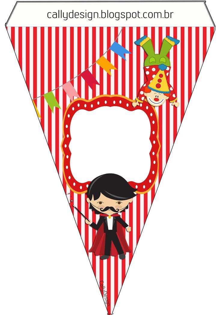 "Kit Gratuito de Aniversário ""Circo"" para Imprimir. - CALLY'S DESIGN-Kits…"