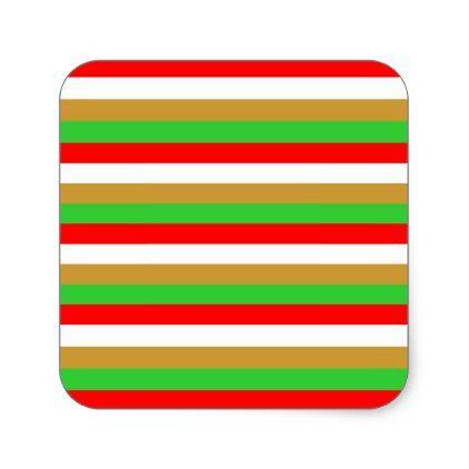 Tajikistan flag stripes square sticker - pattern sample design template diy cyo customize