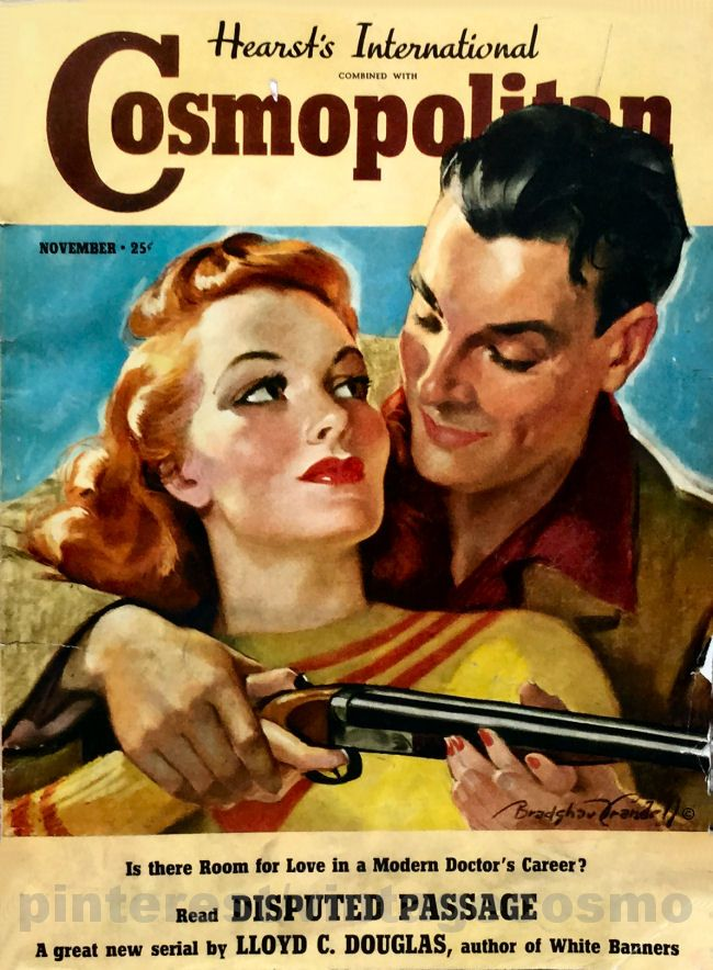 "Cosmopolitan magazine, NOVEMBER 1938 Artist: ""A-Hunting We Will Go"" Bradshaw Crandell"