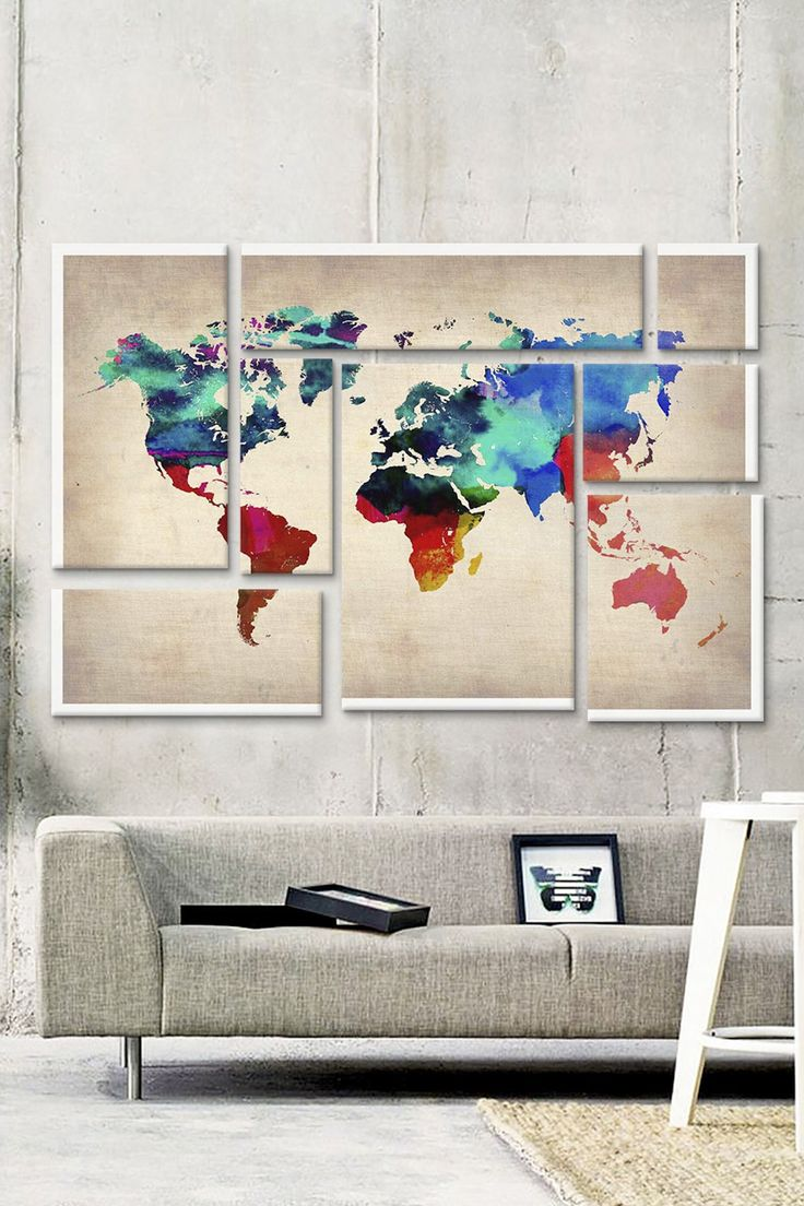 World map wall art                                                                                                                                                                                 More
