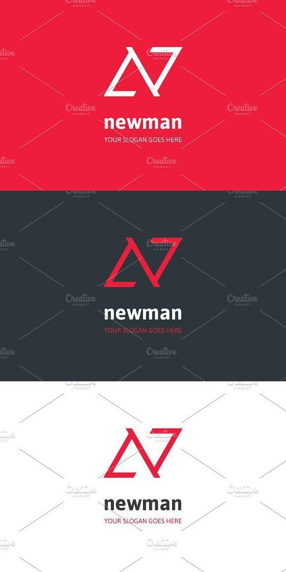 Newman Letter N Logo Lettering Letter N Logos