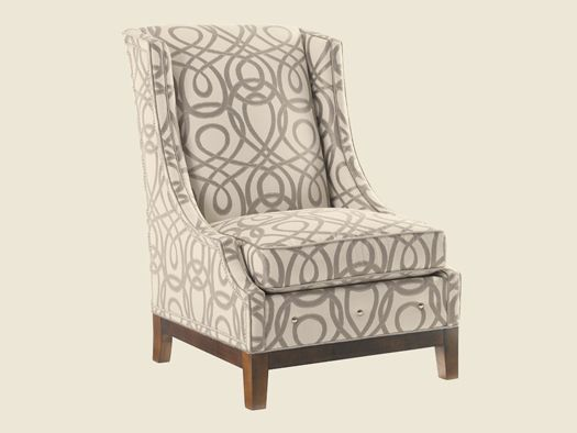 Gorgeous chair with equally gorgeous fabric. We have similar fabrics available so you can recover your own chair.