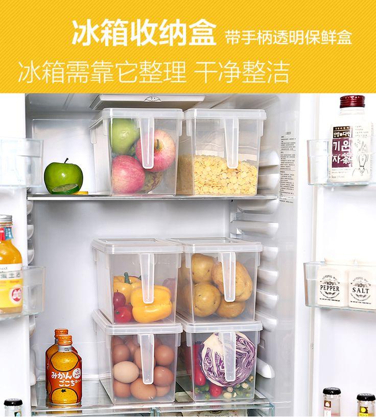 С коробкой-определиться с хранения еды ручки Ящик для хранения большой хранения еды четче холодильник зерновые фрукты овощи. com дней кошка