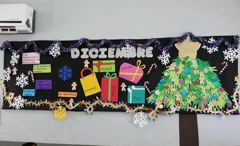 Periodico mural diciembre peri dico mural pinterest for Elaborar un periodico mural