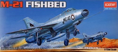 """Mikoyan MiG-21 """"Fishbed"""". Academy, 1/72, injection, No.12442. Price: 6,25 GBP."""