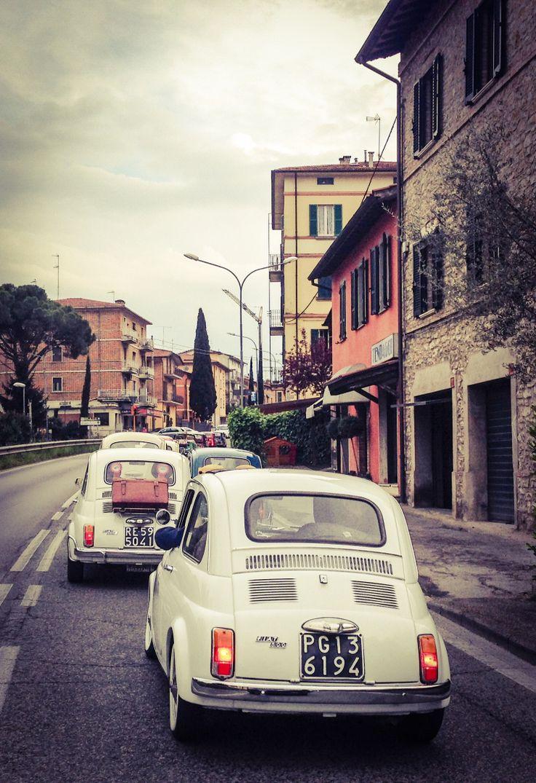 italy and fiat 500 perugia umbria