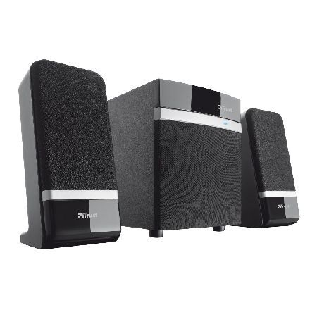 Trust 18925 Trusts Raina 2.1 speaker system: First-class audio combined with an attractive and compact design. The Raina 2.1 speaker system includes 2 satellite speakers and a subwoofer. The sleek design makes th http://www.MightGet.com/february-2017-3/trust-18925.asp