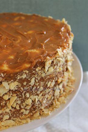 Mi Diario de Cocina: Torta de mil hojas con manjar (1,000 layer cake)