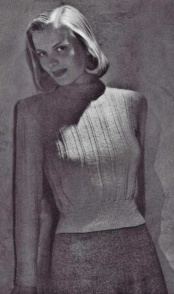 Vintage Knitting PDF Patterns Sweater Pullovers by Dazespast