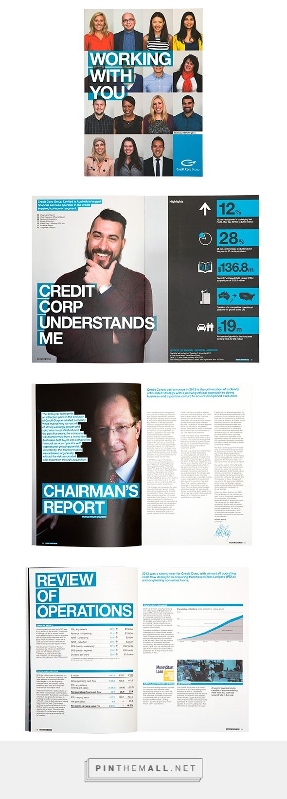 DESIGNDAVEY - 3/14 - HIGH END CORPORATE DESIGN -  Credit Corp Annual Report 2013 created via http://pinthemall.net