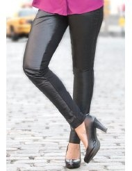 Jessica London Plus Size Leather Jeggings
