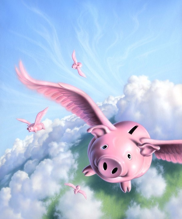 Flying Piggy Banks. Jerry Lofaro