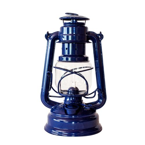Navy Blue Hurricane Lantern