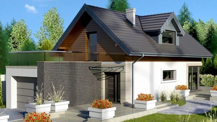 Casa de vis cu suprafata locuibila sub 100 m2 cu garaj si 3 dormitoare – proiect detaliat cu fotografii
