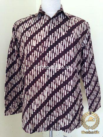 Kemeja Batik Panjang Motif Parang Kusumo | #Indonesia Unique  #Batik Tops Shirt #Clothing Men Women http://thebatik.co.id/baju-batik/