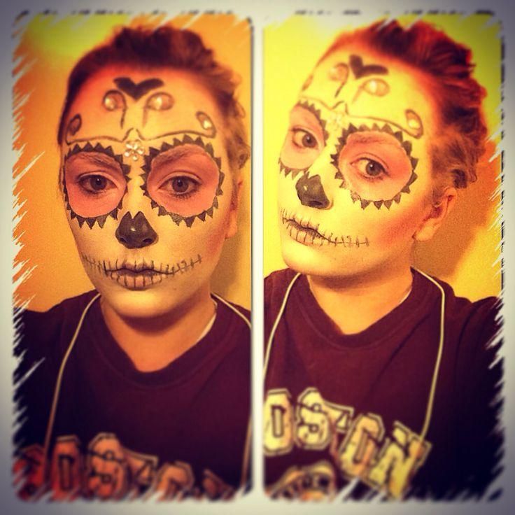 Sugar skull I did today 21 best