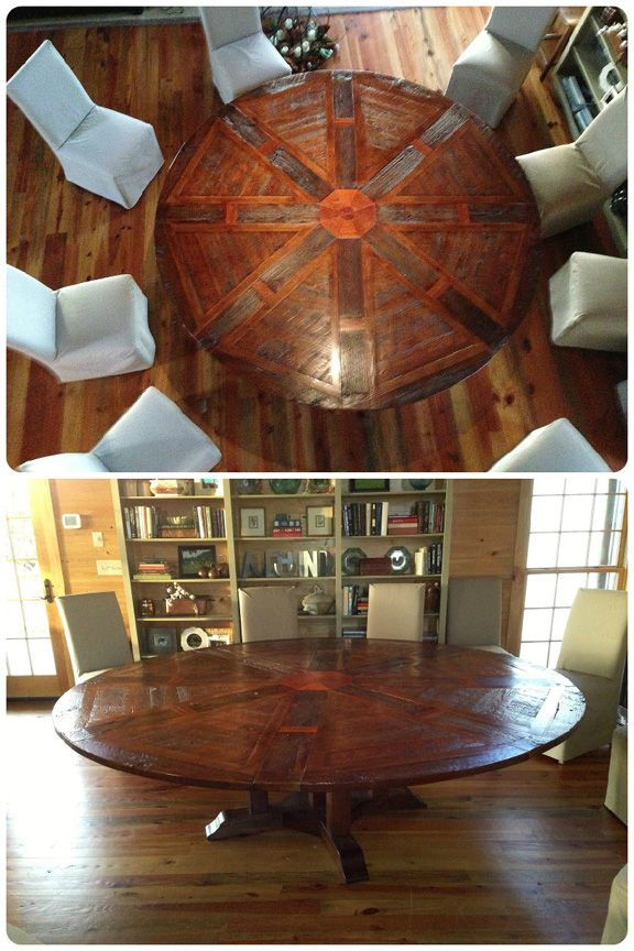 As well as a hell of a great round table!, South Carolina Another happy  Western Heritage Furniture expandable round table customer.