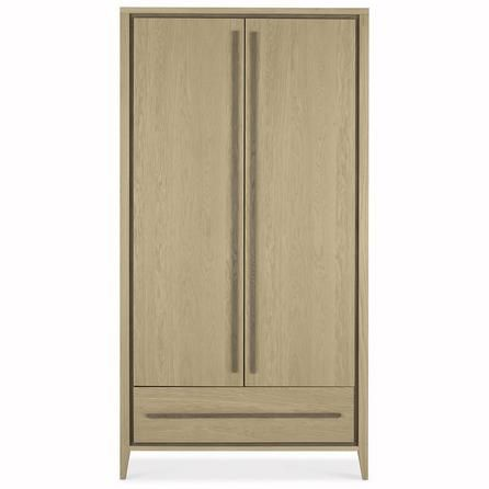 Dunelm Mason Contemporary Design Brown Oak Wood Bedroom Double Wardrobe