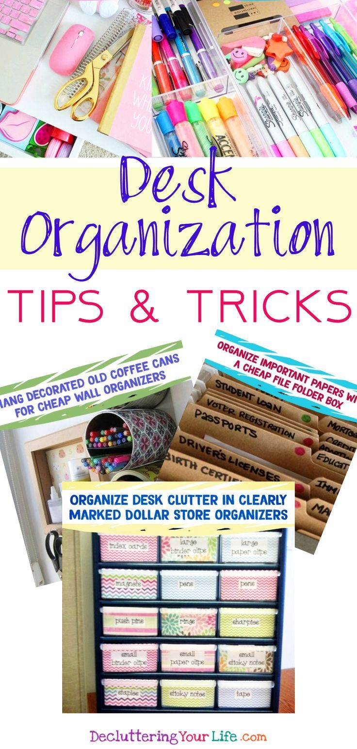 desk organization simple tips diy ideas for your home office rh pinterest com