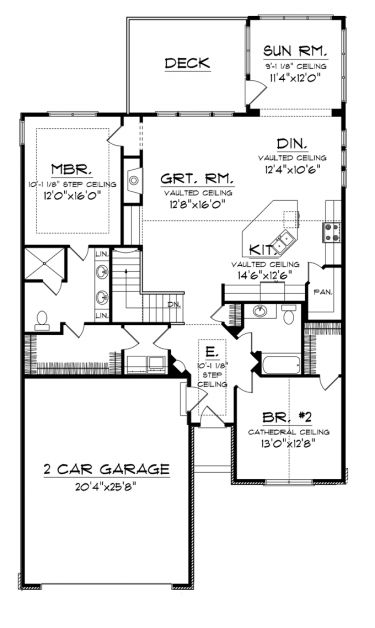 Home Plans HOMEPW76360   1,662 Square Feet, 2 Bedroom 2 Bathroom Craftsman  Home With 2 Part 56
