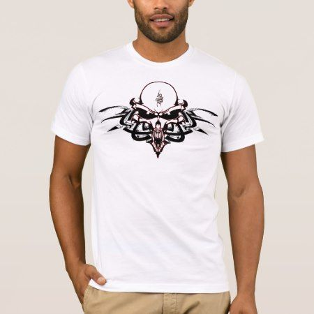 Sinister Alien Skull with Tribal Markings T-Shirt - click to get yours right now!