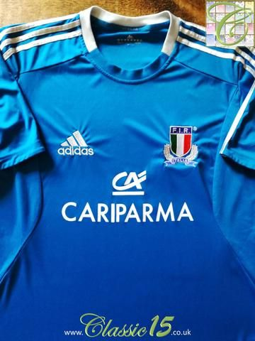 Official Adidas Italy home rugby shirt from the 2012/2013 season.
