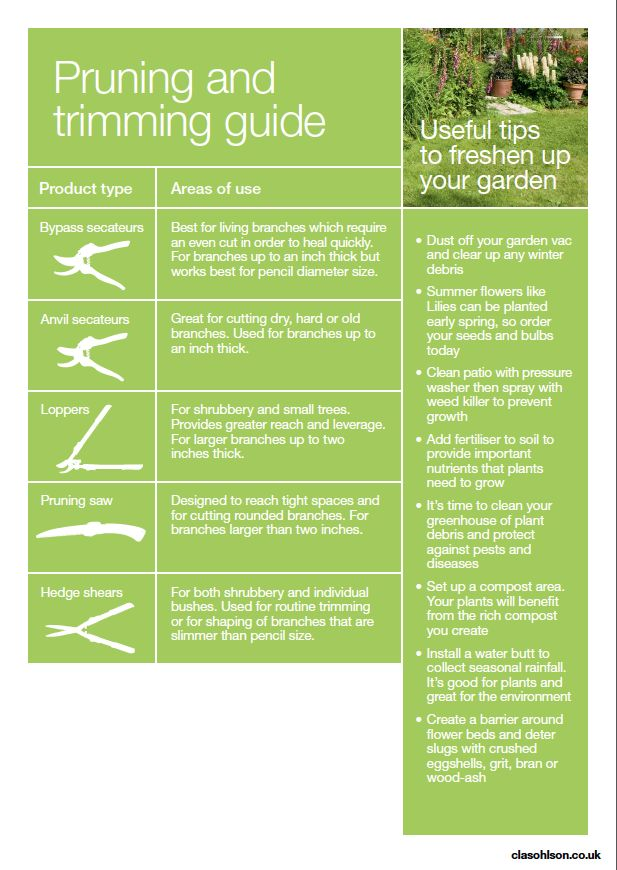 Pruning Guide from Clas Ohlson
