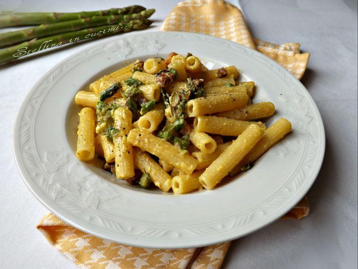 Carbonara di asparagi con pancetta e latte