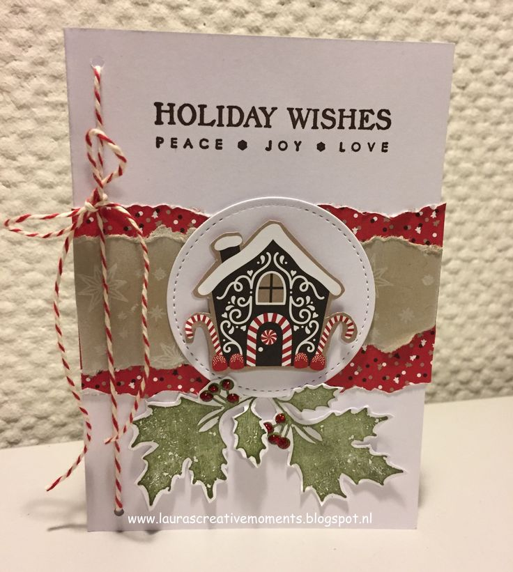Holiday Wishes - Candy Cane Lane DSP, Stampin' Up! (Christmas card idea)