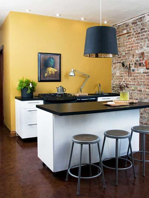 Love This Mustard Yellow Coloured Wall For A Bedroom Kitchen Colors