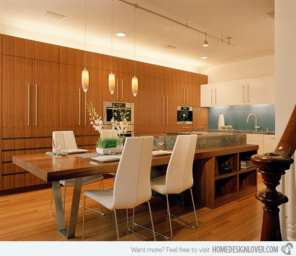 Beautiful Modern Kitchens With Islands Ideas: 13 Best Images About Kitchen Islands With Attached Tables