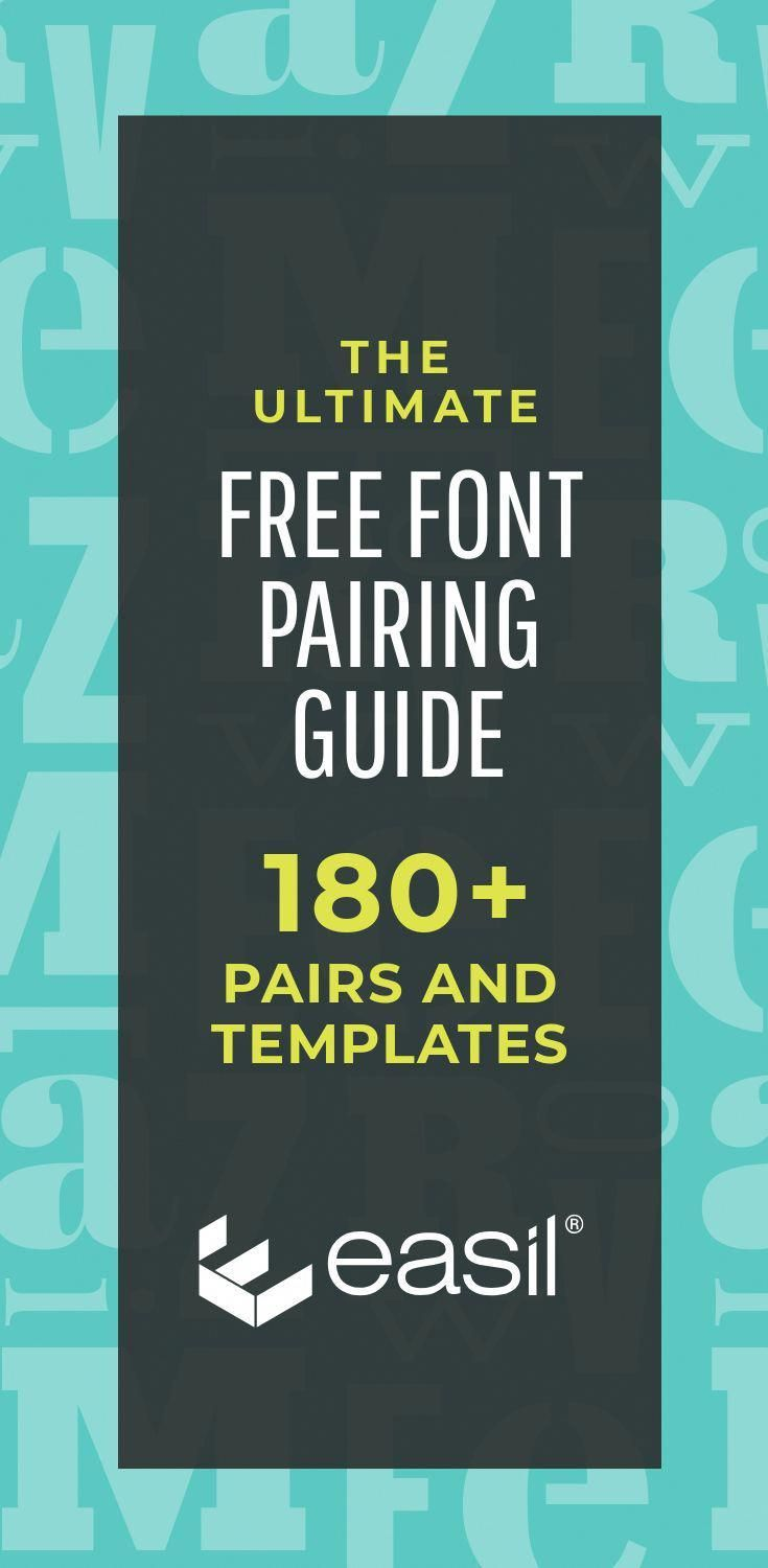 the ultimate free font pairing guide 180 examples plus templates