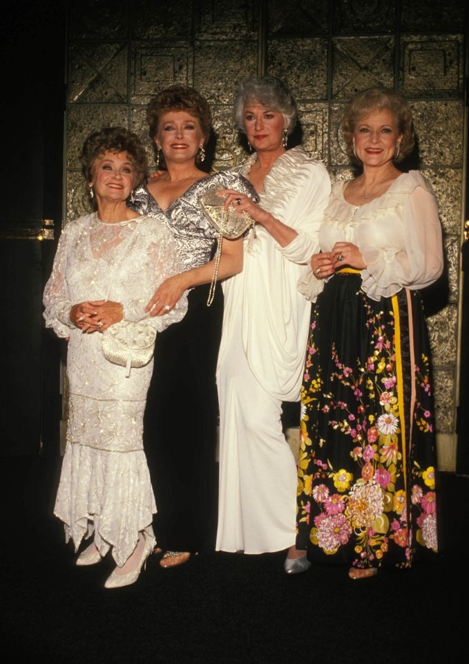 L-R: Estelle Getty, Rue McClanahan, Bea Arthur, and Betty White.