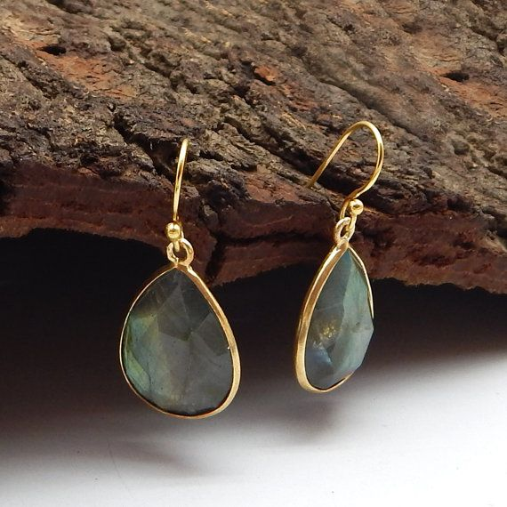 Designer Semi Precious Natural Labradorite by darlingpiece on Etsy