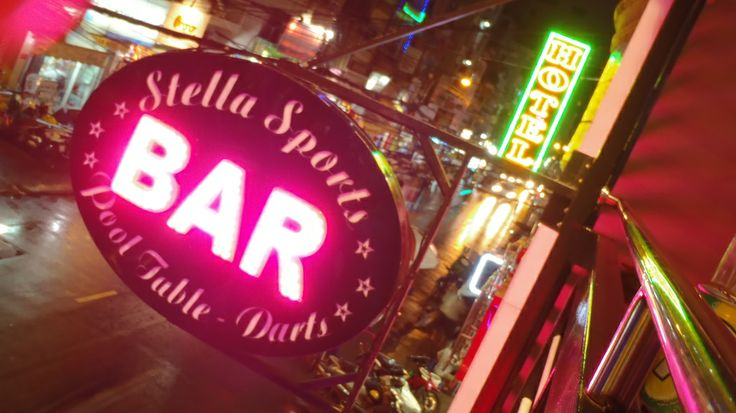 Stella bar Saigon. In the backpacker district.  A great place to people watch.