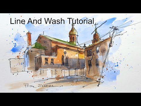 wash pen peter sheeler watercolor tutorial urban watercolour techniques line sketching paintings painting tutorials sketch youtube water demonstration ink fun