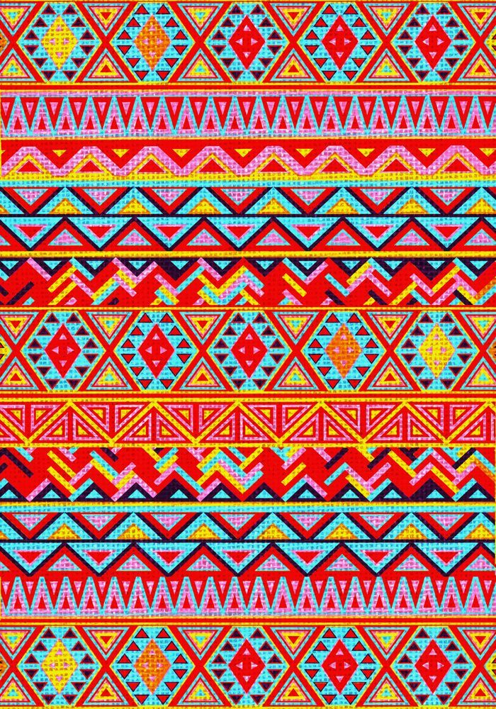 Aztec Pattern Indian Navajo Abstract Zigzag Woven Tribal