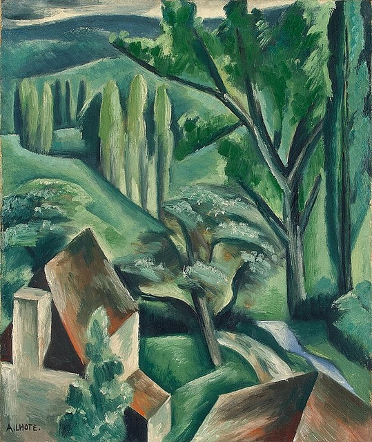 L'hote, Andre (1885-1962) - 1920-21 Green Landscape (State Museum of New Western Art, Moscow) | Art, Art painting, Art painting oil