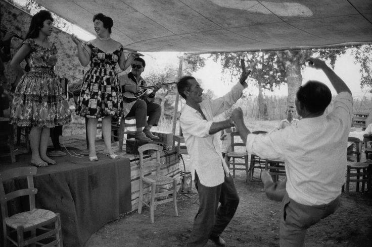"Henri Cartier-Bresson 1961 GREECE. Peloponnese. 1961. Local dance called ""Zebekiko""."