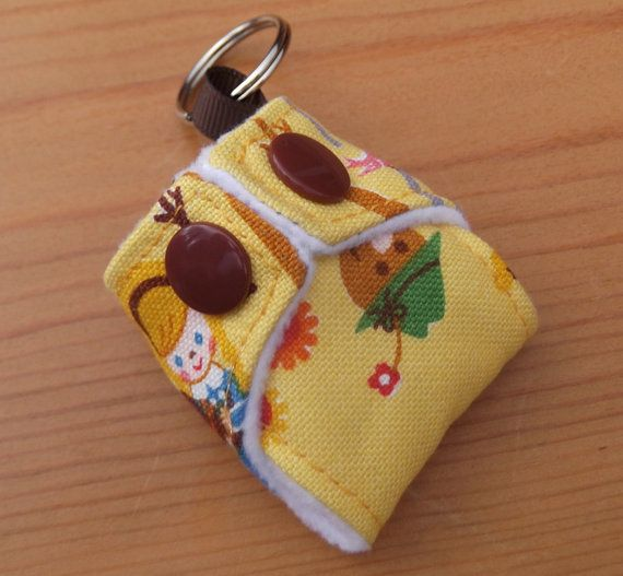 Cloth Nappy Diaper Mini Keychain Keyring Japanese Cosmo Textiles Wizard of Oz