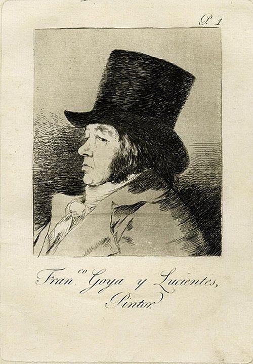 Autorretrato. Francisco Goya y Lucientes, Pintor. Aguafuerte, aguatinta, punta seca y buril., 21.5 x 15.1 mancha, 30.6 x 20.1 soporte. 1.000 €.