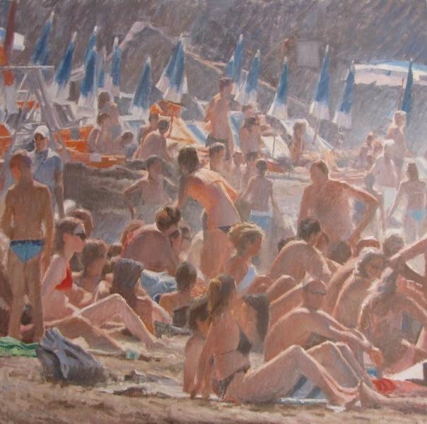 #1516 Grandi bagnanti / Bathers Olio su tela/Oil on Canvas 150x150