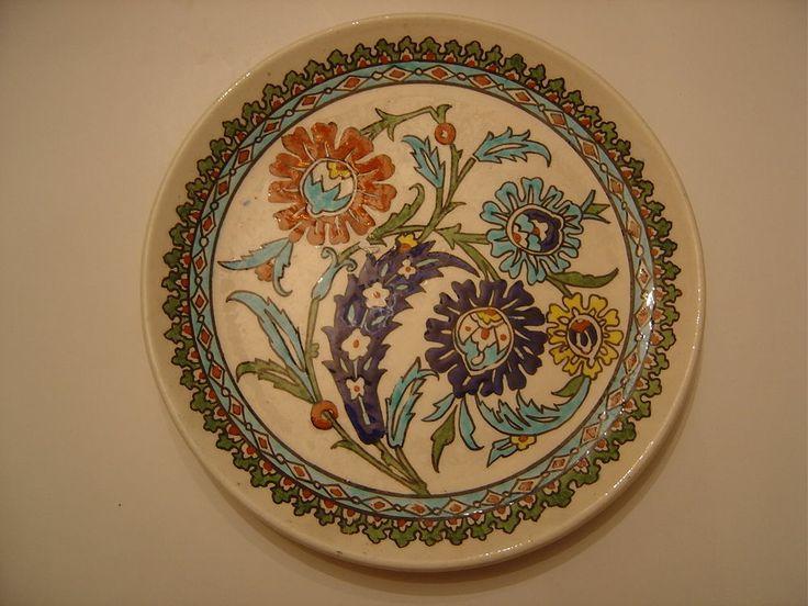 Turquie assiette El Hamara Kutahya