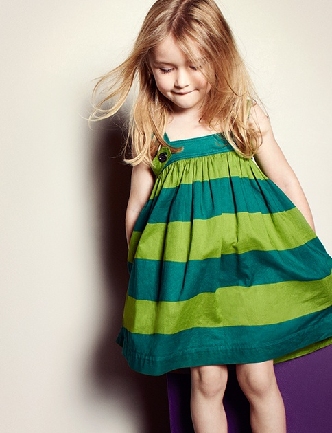 Playful cotton striped sundress from Burberry S/S13 childrenswear collection