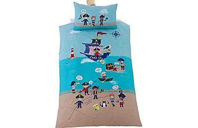 Pirate Duvet Junior Bed, Toddler Bed, Cot Bed Duvet Cover & Pillowcase Set