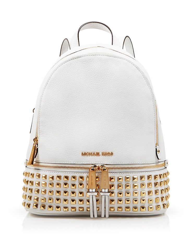 Michael Kors' Small Rhea Studded Backpack is perfect for storing your railway tickets! #100percentbloomies @bloomingdales