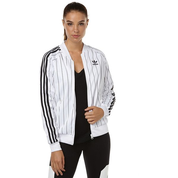 Adidas Originals Supergirl Womens Track Top ($74) ? liked on Polyvore  featuring bomber jackets