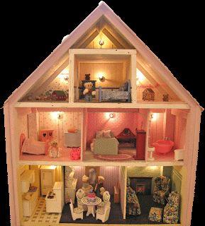 Dollhouse Decorating!: lighted dollhouse