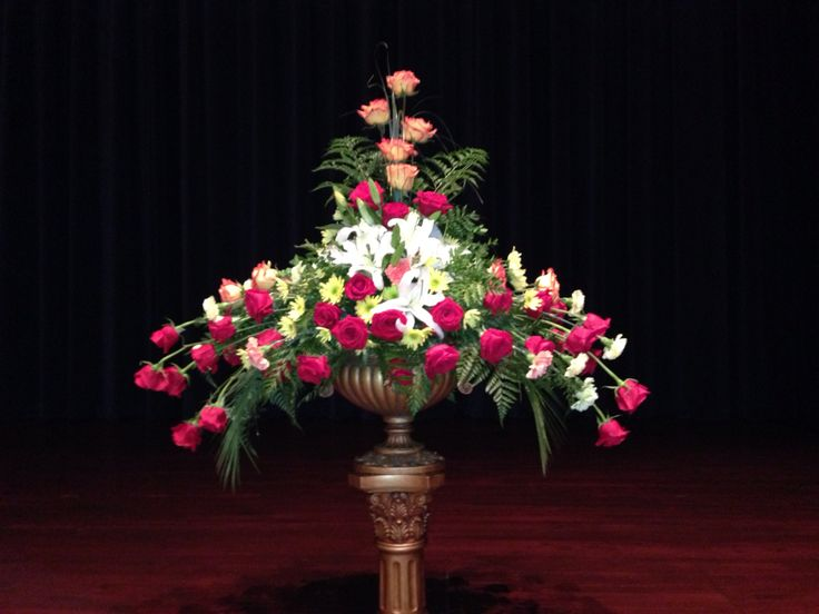 Stage flowers  Floral Design at Armstrong Auditorium