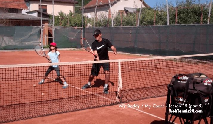 Volley Tennis Lesson from WebTennis24.com (My Daddy / My Coach - live tennis lessons with kids)